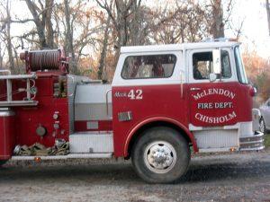 mclendon chisholm texas fire truck
