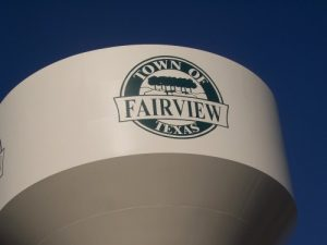 fairview texas water tower